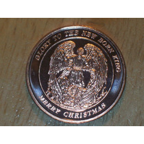 Moneda Angel - Merry Christmas - 1 Onza Cobre Puro 999 -