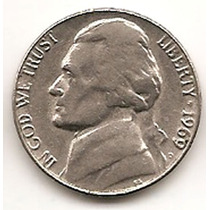 Moneda Estados Unidos De 5 Centavos.five Cents Año1969 D
