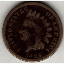 Estados Unidos Usa 1 Cent 1862 B