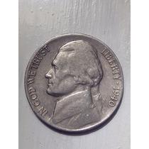 Eeuu Moneda 5 Centavos 1940, Five Cents, Perfecta Hermosa!