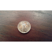 Moneda 5 Dollars De Oro 1/10 Onza 3.1gr De Oro 24k