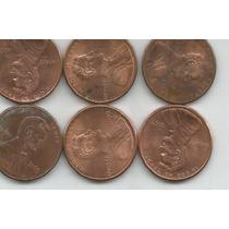 Estados Unidos Lote De 6 Monedas De Un Centavo