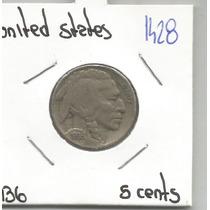 Estados Unidos Moneda 5 Centavos Bufalo De 1936
