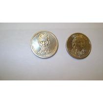 2 Monedas De Estados Unidos De Un Dolar Adams Lincoln