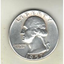Estados Unidos Quarter Dólar De Plata 900 Año 1957 Km 164