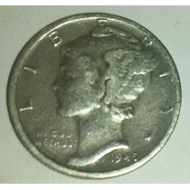 Moneda Plata 1 Dime Dollar 1945/47 Usa Estados Unidos C/u