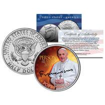 Robmar-el Papa Francisco Sobre Medio Dolar-certificado-unico