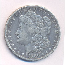 Usa Morgan Dolar 1886 Letra O Plata Excelente Silver Crown