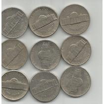 Estados Unidos Lote De 9 Monedas De 5 Centavos