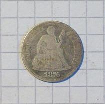 Estados Unidos 1 Dime 1876 Plata