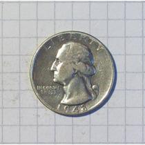 Estados Unidos ¼ Dólar 1948 Plata Muy Linda