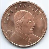 Moneda Onza De Cobre (avdp) Papa Francisco Sin Circular