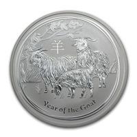 Moneda De Plata 999 1/2 Onza 2015 Año De La Cabra Australia