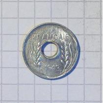 Indochina 1 Centavo 1943 Sin Circular