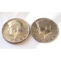 2 Monedas Medio Dolar 1968
