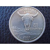 U. S. A. - Montana, Moneda D 25 Centavos (cuarto), Año 2007