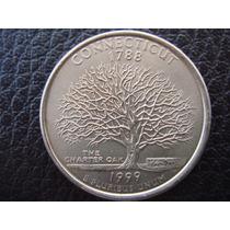 U. S. A. - Connecticut, Moneda D 25 Centavos (cuarto) - 1999