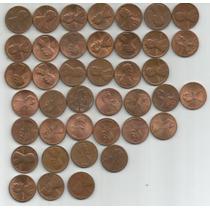 Estados Unidos Lote De 40 Monedas De Un Centavo