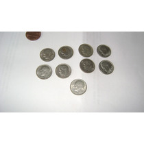 9 Monedas De Estados Unidos De 10 Centavos De Dolar (dime)