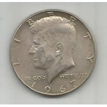 Estados Unidos Moneda De Plata Medio Dolar 1967