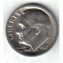 Estados Unidos Moneda 1 Dime Año 1985 D !!