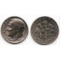 Moneda Estados Unidos De One 1 Dime 10 Centavos Año1977