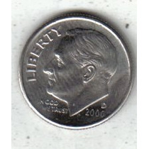Estados Unidos Moneda 1 Dime Año 2000 D !!!!