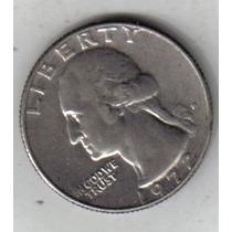 Estados Unidos Moneda Quater Dolar Año 1972 D !!!!