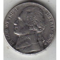 Estados Unidos Moneda De 5 Cents Año 2001 D !!!!