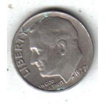 Estados Unidos Moneda 1 Dime Año 1977 !!