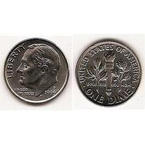 Moneda Estados Unidos De One Dime 10 Centavos Año1999 P