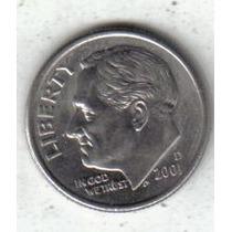 Estados Unidos Moneda 1 Dime Año 2001 D !!!