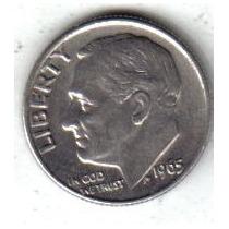 Estados Unidos Moneda 1 Dime Año 1965 !!