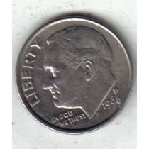 Estados Unidos Moneda De 1 Dime Año 1996 P !!!!
