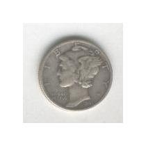 Moneda De Estados Unidos 10 Centavos Plata Mercury Año 1941