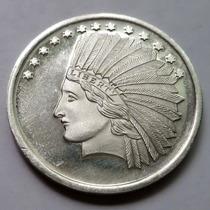 Moneda Usa Una Onza .999 Plata Fina Acuñacion Silver Towne