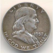 Moneda Medio Dolar 1957 Plata Excelenter