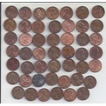 Estados Unidos- One Cent - Lote De 48 Monedas Distintos Años