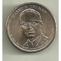 2 Monedas Estados Unidos Presidentes Año 2007 A 2015