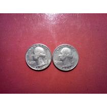 Monedas 2 De Un Cuarto De Dolar 1974-1978-