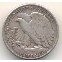 Moneda Medio Dolar 1942 Plata Excelente