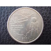 U. S. A. - Ohio, Moneda De 25 Centavos (cuarto), Año 2002