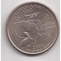 Eeuu Moneda Quater Louisiana Año 2002 Conmemorativa !!