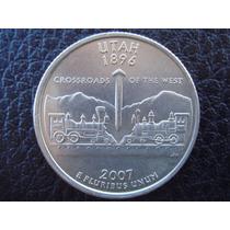 U. S. A. - Utah, Moneda De 25 Centavos (cuarto), Año 2007