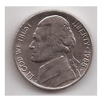 Eeuu Moneda De 5 Cents Año 1988 P !!
