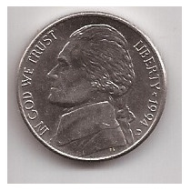 Eeuu Moneda De 5 Cents Año 1994 D !!