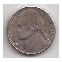 Eeuu Moneda De 5 Cents Año 1997 P !!