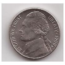 Eeuu Moneda De 5 Cents Año 1999 P !!!
