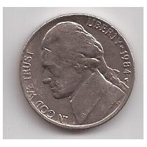 Eeuu Moneda De 5 Cents Año 1984 P !!!