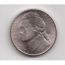 Eeuu Moneda De 5 Cents Año 2000 P !!!